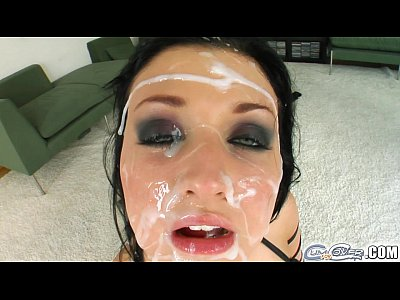 Bukkake Deepthroat Facial video: Cum For Cover Alien's sticky situation is all over her face