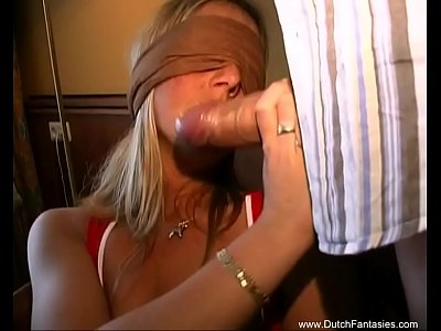 Interracial BBC Dutch MILF With Blindfold