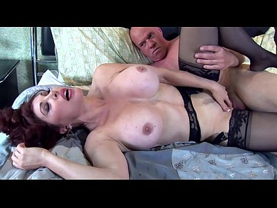 Lingerie Milf Redhead video: Pretty redhead milf fucked in thigh high nylon