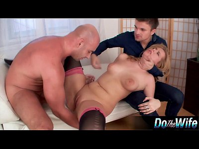 Nipples Cream Pie video: Blonde wife gets fucked with her husband watching