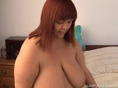 Bbw Boobs Chubby video: Beautiful busty old spunker imagines you fucking her juicy pussy