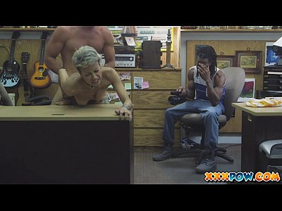 Pov Teen Blowjob video: Black dude sells his latina girlfriend in a pawn shop