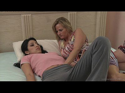 Licking Milf Lesbian video: Mommy wants to know! - Kimberly Gates, Becca Blossoms