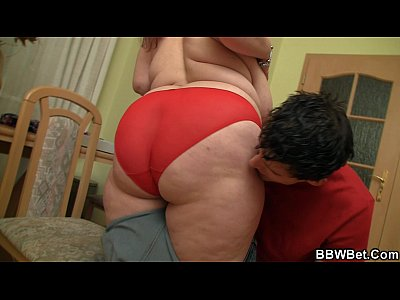 Bbwblowjob Bigass Bigbutt video: Fat girl skinny guy with big cock