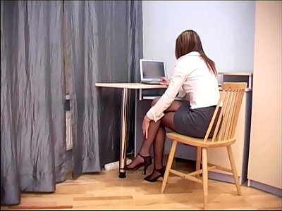 Xxx Videos secretary sex in sheer crotchless pantyhose
