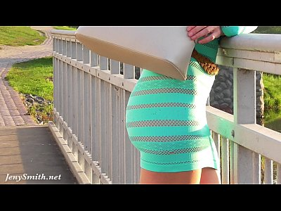 Flashing Public video: Jeny Smith transparent dress