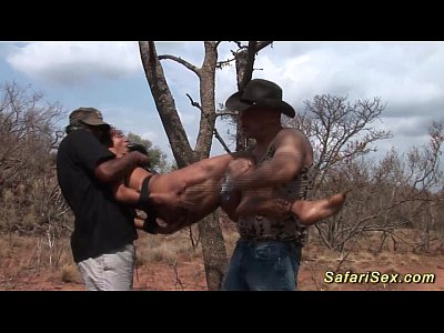 Black Ebony Outdoor vid: babe punished at the safari trip