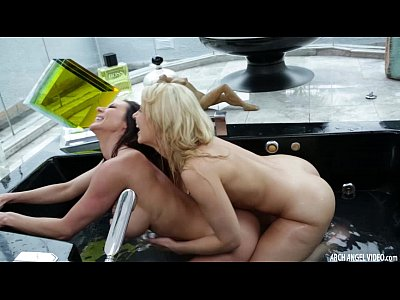 Babes Fingering Strapon video: Kendra Lust ass fucked with a strapon by Anikka Albrite
