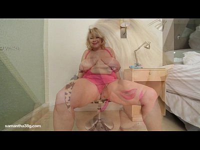 Boobs Solo xxx: BBW Superstar Samantha 38G Drills her Tight Pussy with Toy