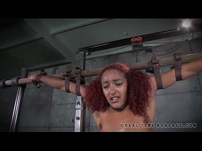 Bdsm Black Ebony video: Electrical Stimulation Bondage LIVE!