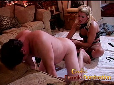 Busting Cumshot Dick video: Dirty talking blonde mistress pegs her obedient slave with a strap-on-6