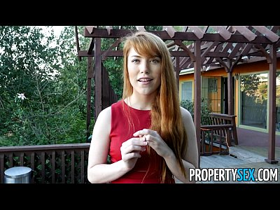 Bush Cowgirl Cuminmouth video: PropertySex - Hot redhead real estate agent performs sexual favors