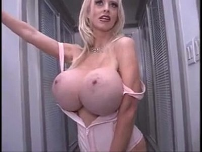 Huge Faketits Doll video: Alena snow pink corset