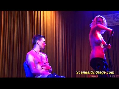 Flexible Fucking Lesbian video: crazy fetish show in public