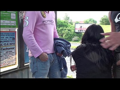 Sex Boobs Public video: Young girl with big tits fucked hard in PUBLIC bus stop