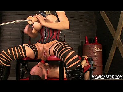 Bondage Electro Facesitting video: Monicamilf is squiring on her femdom slave - Norwegian Kink