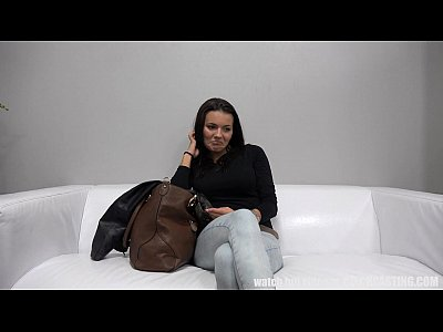 Czech Pov Cumshot video: Super Hot Brunette at Czech Casting