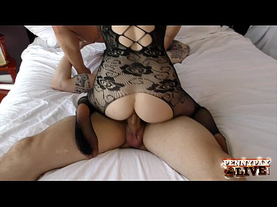 Blowjob Pornstar Threesome video: Penny Pax & Anna Bell Peaks Amazing Bodystocking 3some!