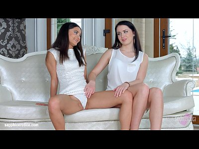 Lesbian Pussylicking Sapphic video: First time by Sapphic Erotica - Kittina Cox and Shrima Malati lesbians