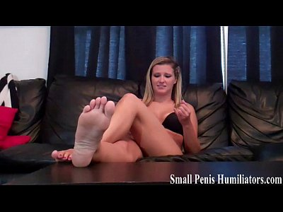 Domination Dominatrix Femdom video: Show us that tiny little cock of yours SPH