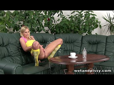 Euro European Masturbation video: Lovely blonde Noleta loves to squirt so much