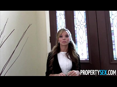 Pov Oral Blonde video: Property Sex - Sexy petite real estate agent tricked into fucking on camera