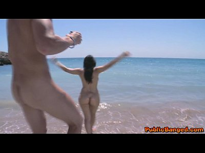 Super hot babe Valentina Nappi banged on public beach!