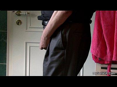 Olderman Olderyounger Granpa video: Older man younger woman oral exchange