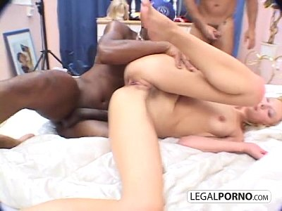 Two guys with big dicks double-fuck a hot blonde hc-2-03