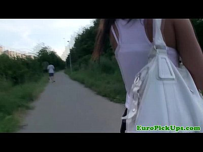 Pov Outdoor Girl video: Pulled tanlined czech babe drilled outdoors