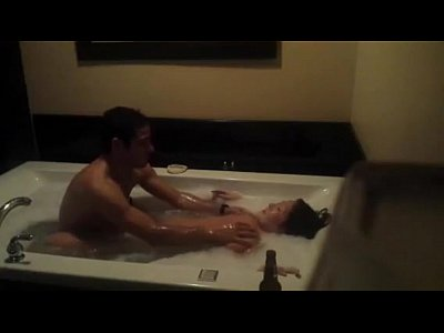 Jacuzzi video: nice jacuzzi wit hot korean girl lucky brazilian man