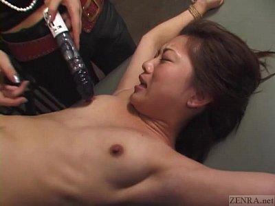 【レズ】監禁レズ動画口の堅いお嬢様をむき出しとして遊具責めをするS女房の拷問