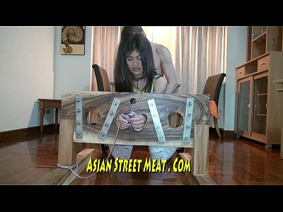 Hardcore Stockings Chinese video: Little Philipina In Big Wooden Restraint
