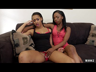 Black Ebony Kissing video: Hot Black Lesbians Sure Do Know How to Please Each Other