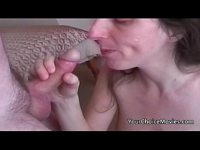 Blowjob Cumshot Deepthroat video: Lactating mature milks while giving great blowjob