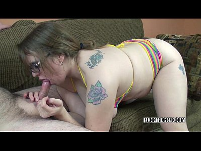 Oral Blowjob Milf video: Chubby blonde Alexsis Sweet is going down on a stiff cock