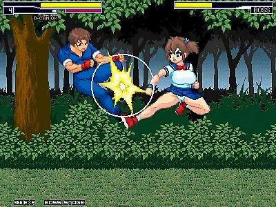 【エロアニメ】 敵に犯されながらステージ進んでボスを倒しボスチンポに逆レイプパイズリして精液搾り取っちゃう爆乳美少女