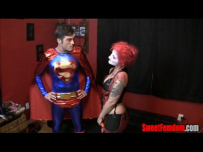 Harley Quinn Fucks Superman STRAPON CLOWN