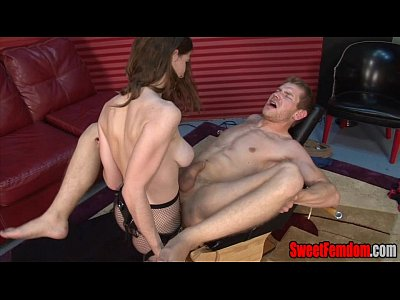 Blowjob Cei Cumeating video: Molly's New Fuck Toy FEMDOM STRAPON BIG TITS PEGGING