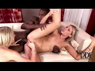 Russian blondes go crazy with huge black cock