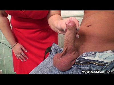 Motherinlaw Motherinlaw Mywifesmom video: Busty mom in law riding cock in the bathroom