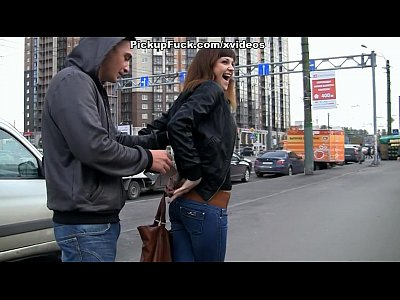 Public Outdoor Girls video: met on the street and fucked hard in all holes Woman