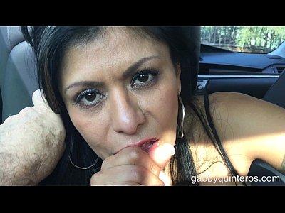 MexiMILF Gabby Quinteros is a BackSeat BJ Slut!