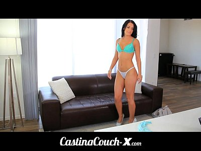 Blowjob Brunette Casting video: Casting Couch-X Gymnast wants to balance on big beams