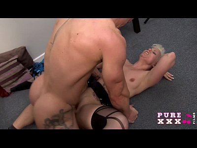 Blonde Blowjob Cumshot video: PURE XXX FILMS Banging the Milf neighbour