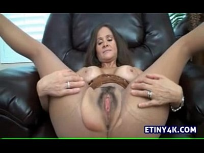 Handjob Milf Pantyhose video: Step mom teaching her step son to jerk off