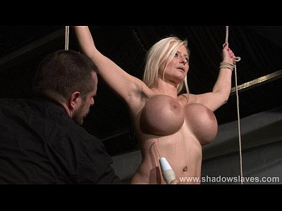 Bdsm Bondage Tied video: German slavegirl Melanie Moons electro bdsm and zapped electric toy tortures of