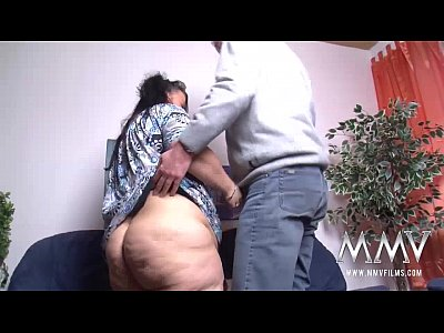 Blowjob Brunette Handjob video: MMV FILMS Fat Mature German