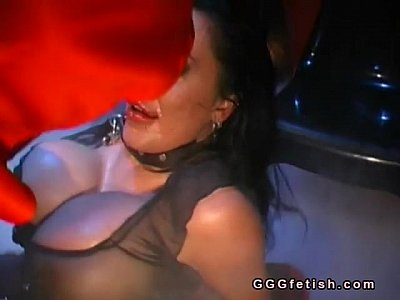 Bizarre Blowjob Fetish video: Slut with big boobs gets anal fucking