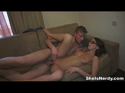 Teens Teen Glasses video: She Is Nerdy - The magic sex tricks